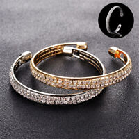Hot Bracelet Jewelry Women Fashion Style Gold Crystal Rhinestone Bangle Cuff