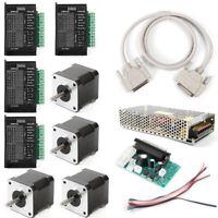 CNC Kit 4 Axis Breakout Board & Nema17 Stepper Motor For DIY Router/Mill/Plasma