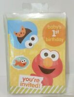Sesame Street Baby's 1st Birthday Invitations Elmo Cookie Monster Pack of 10