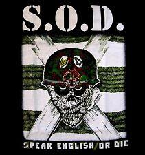 S.O.D. cd cvr SPEAK ENGLISH OR DIE Official SHIRT MED storm troopers of death