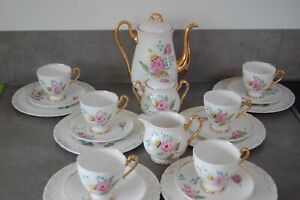Shelley 21 piece hand painted coffee service