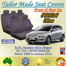 Tailor Made Grey Seat Covers for Hyundai i30cw Wagon from 03/2009 to 01/2013