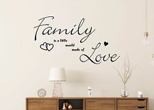 Wandtattoo - Family little world made of Love - Wandbild Aufkleber Folie Fenster