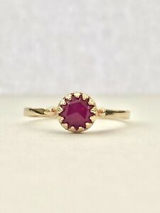 Becky Kelso Rose Cut Ruby Ring