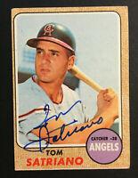 Tom Satriano Angels signed 1968 Topps baseball card #238 Auto Autograph 2