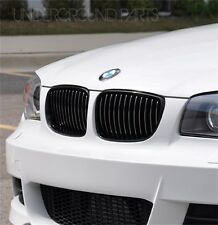 1 SERIES M SPORT GLOSS BLACK KIDNEY GRILLES SURROUNDS COVERS E81 E82 E87 E88 M1