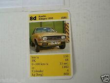 40-CARS/AUTO 8D AUSTIN ALLEGRO 1500 KWARTET KAART, QUARTETT CARD,