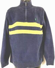 POLO RALPH LAUREN Quarter Zip Sweater 100% Cotton Comfort Womens Size L