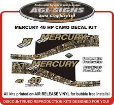 1999 2000 2001 2002 2003 2004  MERCURY Camo 40 HP  Outboard Decal kit   50 HP