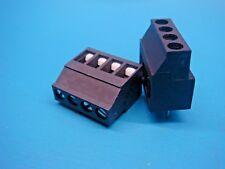 (2) RIACON 31071104 4 POLE 90° 5mm PCB SCREW TERMINAL BLOCK SOLDERABLE