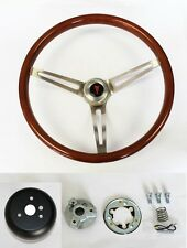 1964-1966 Pontiac Grand Prix LeMans Wood Steering Wheel High Gloss 15""