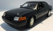1/18 Motor Max Custom Black Ford Crown Vic Unmarked Patrol Car