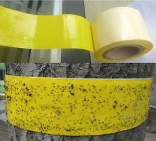 "4""x 55 Yard Insect Bug Fly Sticky Glue Catcher Tape Ribbon Tree Garden Trap"
