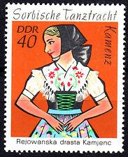 1671 postfrisch DDR GDR Jahrgang 1971 Kamenz Tracht Sorbische Tanztracht