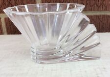 "Rosenthal Germany 24% Lead Crystal "" Blossom "" Votive   art deco lQQk   signed"