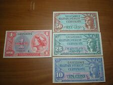 UNITED STATES USA  1961 MPC MILITARY PAYMENT 591 SERIES CURRENCY MONEY NOTES