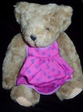 Vermont Teddy Bear 16 Inch Plush Toy Stuffed Animal purple dress Fully Jointed @