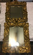 2-R.M. Kulicke Collection Frame Gold Tone Mirror-Anglo Dutch Foliate Mirror