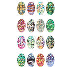 Galaxy Rainbow Color Foil Nail Art Sticker Gel Tips Decor Decal Water Transfer #