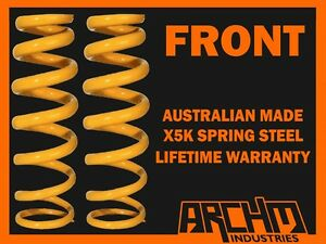 FRONT 3 INCH 75MM RAISED KING COIL SPRINGS FOR NISSAN PATROL GQ Y60 LWB