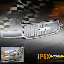 "NEW 1999-2002 GMC Sierra / 2000-2006 GMC Yukon Chrome Mesh ""Hole"" Billet Grill"