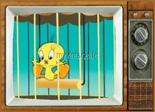 "TWEETY BIRD TV Fridge MAGNET 2"" x 3"" SATURDAY MORNING CARTOONS LOONEY TUNES"