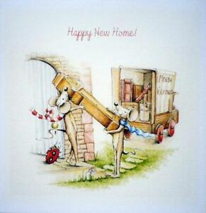 Happy NEW HOME Card / handmade card  with mice & removal van