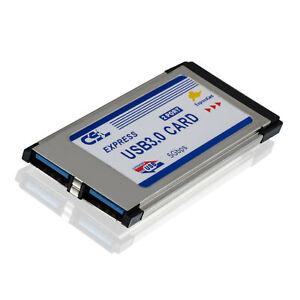 CSL 34mm Express Card Karte 2 Port USB3.0 ExpressCard /34 | bis zu 5 GBit/s