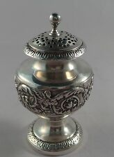QUALITY ANTIQUE STERLING SILVER POUNCE OR PEPPER POT LONDON 1818 EMES & BARNARD