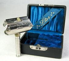 Antique 1901 Kampfe Bros. Safety Razor Set Case Box Blade