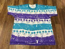 2XL - Vtg 80s 90s Disney Mickey Mouse All Over Print Single Stitch T-Shirt USA