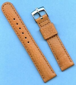 18mm Genuine Wild Boar Strap, Leather Lined & Steel Stainless Rolex Tudor Buckle
