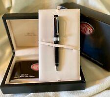 Aurora Optima Ballpoint Pen Black w/Chrome Trim - New/Never Used W/Company Logo