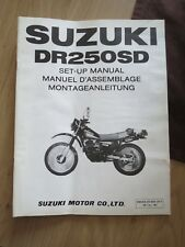 Original factory Set-up Manual Suzuki DR250SD  Marche 1983