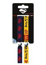 DC COMICS Superman (Dark) Pack Of 2 Fabric Festival Wristbands FWR68074