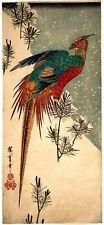 Repro Japanese Print by Utagawa Hiroshige 'Golden Pheasant.....'