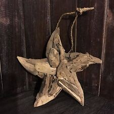 20cm x 20cm Driftwood Star Handcrafted Hanging Decoration