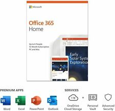 Microsoft Office 365 Home, 6 Users, 1 Year Subscription, Sealed, Brand New