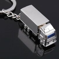 Creative Mini Simulation Metal Truck Key Ring Keyring Keychain Pendant Gift ^#Y