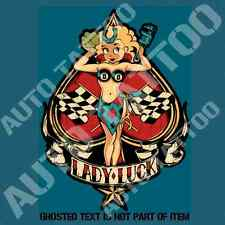 LADY LUCK HOT ROD Decal Sticker Mancave Rat Rod Hot Rod Vintage Garage Stickers