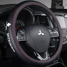 "15"" Car Steering Wheel Cover Genuine Leather For Mitsubishi New"