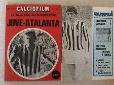 2 PROGRAMMI RIVISTE CALCIO FILM JUVENTUS VS. ATALANTA E FIORENTINA 1972 E 1976