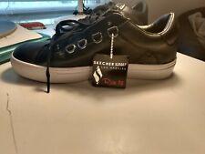 Skechers Street Los Angeles Leather Black High Top Sneaker Memory Foam Size 9