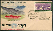 Bhutan 1968 Tashichho Dzong— FDC