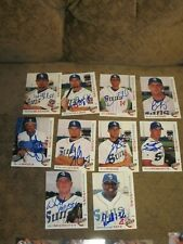 LOT OF 10 DIFFERENT SIGNED AUTOGRAPHED 2002 JACKSONVILLE SUNS MINOR LG CARDS