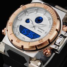 INFANTRY Mens LED Digital Quartz WristWatch Chronograph Golden Sport Army Rubber
