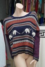 Ladies Urban Outfitters BDG Striped Multicolored Print Jumper Size L
