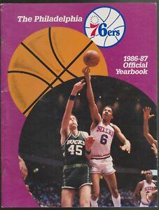 1986-87 PHILADELPHIA 76'ers NBA BASKETBALL OFFICIAL YEARBOOK DR J JULIUS ERVING
