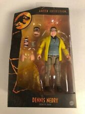 Jurassic Park Amber Collection Dennis Nedry Action Figure-Ships Fast