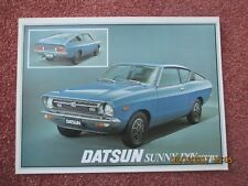 NISSAN DATSUN Sunny 120Y Coupe 1977  brochure